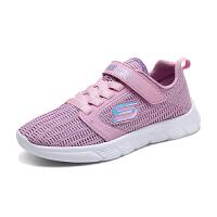 斯凯奇(Skechers)女童鞋魔术贴运动鞋 轻质软底休闲鞋664070L 664070L-LTPK浅粉色 13C/3