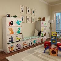 书架储物柜收纳柜子幼儿园书柜格子柜自由组合玩具置物架 0.6米宽