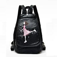 迷你双肩包女韩版pu时尚百搭旅行小包包软皮胸包女背包女