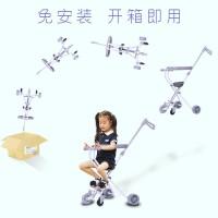 溜娃神器六岁儿童折叠 轻便遛娃神器带刹车可折叠手推车五轮