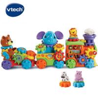 VTech伟易达GearZooz动物小火车 齿轮拼接组装拖拉益智拼插玩具