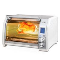 【ACA北美电器旗舰店】ATO-CF24B家用光波电烤箱不锈钢热风循环旋转烤架