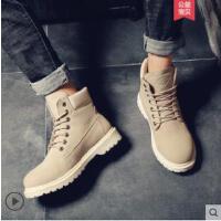 男士工装靴英伦马丁鞋沙漠靴男靴子潮百搭马丁靴英伦高帮复古短靴