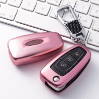 车钥匙包专用于福特款新福克斯翼虎途睿欧18钥匙套扣壳女士17