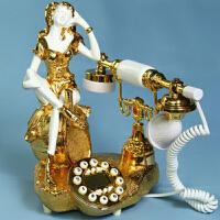 普润(PU RUN) 金装丽人 电话机 电话座机 来电显示电话 欧式仿古电话 机家用老式