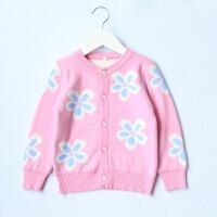 女童加厚毛衣开衫装毛线衣女宝宝羊毛衫外套童装儿童羊绒衫新品