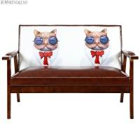 北欧沙发小户型布艺简约现代三人客厅可拆洗双人单人日式组合沙发 烟斗猫 <<不可拆洗>>