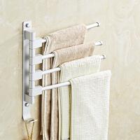 免打孔毛巾架卫生间折叠毛巾杆厨房抹布架浴室面布架可旋转小户型
