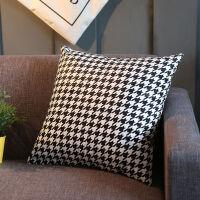 北欧时尚简约黑白抱枕短毛绒沙发靠垫抱枕办公室靠枕汽车靠垫腰枕