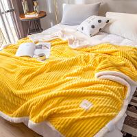 宝宝绒毛毯被子冬季加厚保暖单人空调毯子法兰绒毛巾被午睡珊瑚绒 200*230cm【绒毛细腻 透气亲肤 适用春夏】