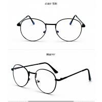 2018新品眼镜女学生素颜韩版潮无度数防护眼镜蓝光金丝眼镜框平光镜男