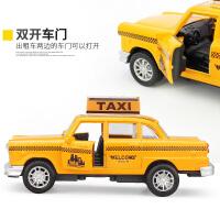 回力合金模型汽车经典款福特雷鸟车模出租车的士儿童玩具汽车礼物