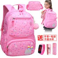 韩版校园儿童小学生书包1-3-4年级女童6-12周岁女孩双肩包护脊5