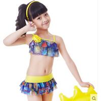 �和�游泳衣女 童女孩泳�b 女孩比基尼套�b����分�w小中大童泳�
