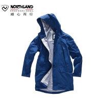 NORTHLAND/诺诗兰新款男士时尚潮流防风长款冲锋衣KS085201