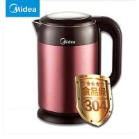 Midea/美的 MK-H215E4电热水壶304食品级不锈钢烧水壶家用保温