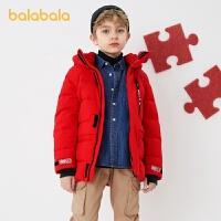 【4件3折�r:209.4】巴拉巴拉童�b男童中�L款羽�q服2020秋冬新款中大童�和�外套�\�映�