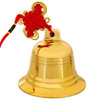 纯铜风铃铜铃铛挂件车铃纯铜铃铛大铜钟寺庙家居饰品