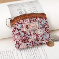 新款迷你韩版布艺复古老人女纯棉小清新零钱包硬币包零钱袋小钱包