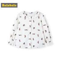 巴拉巴拉女童洋气衬衫宝宝衬衣秋装2019新款儿童上衣猫咪寸衫纯棉