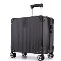 拉杆箱女18寸16寸商务出差迷你行李箱男小型登机箱铝框密码旅行箱
