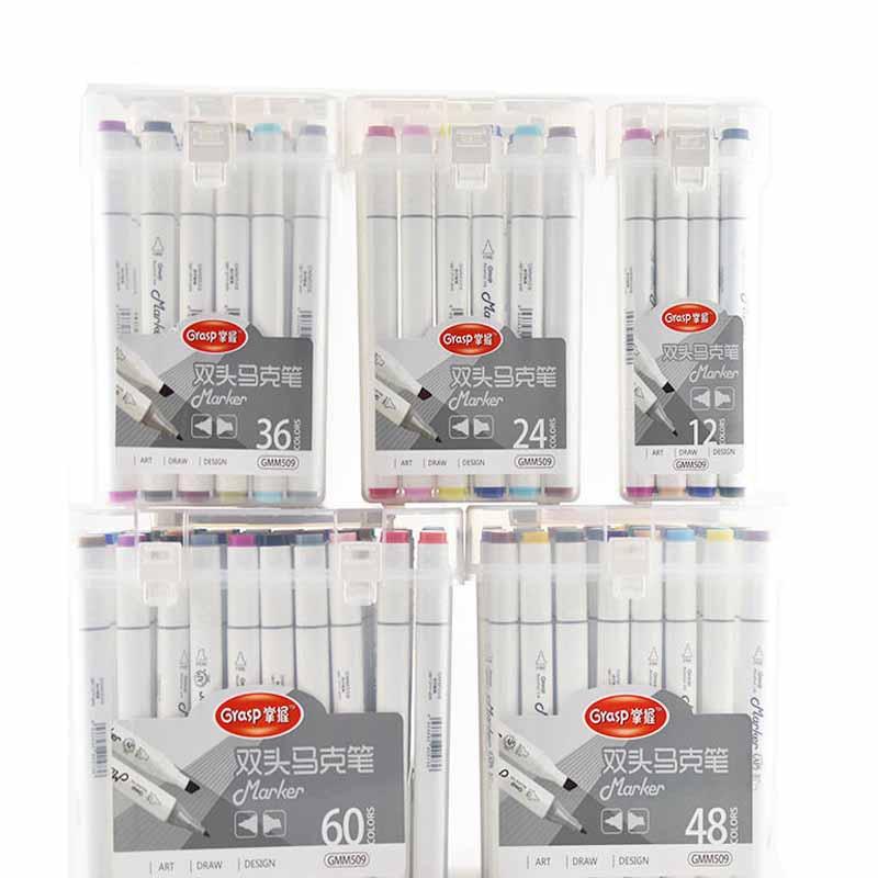 油性双头马克笔 12色/24色/36色/48色/60色学生绘画彩绘笔