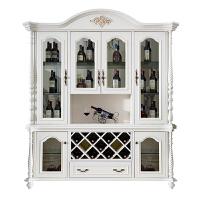 欧式酒柜美式实木餐边柜现代简约靠墙餐厅多功能储物柜客厅展示柜 4门