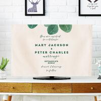 北欧绿色植物电视机罩盖布壁挂式液晶电视防尘布42英寸电视保护罩