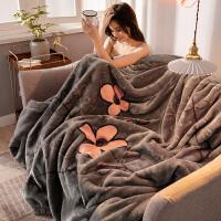 拉舍尔毛毯被子珊瑚绒毯子冬季法兰绒加厚保暖单人宿舍学生铺床 200*230CM -双人毛毯(重9斤)