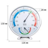 温湿度计办公室内外两用测温计简约温度计婴儿房家居日用生活日用浴室用品 9011中号 表盘直径88mm