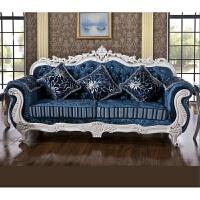 欧式布艺沙发123组合实木大小户型田园沙发客厅欧式三人位沙发 1