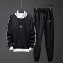 卫衣男秋季圆领套头男士休闲运动套装韩版修身两件套长袖外套衣服D72