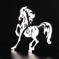 钢魔兽 不锈钢全金属摆件 工艺品 可拆卸拼装 十二生肖 马