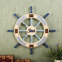 美式地中海风格复古家居装饰品 航海舵手挂件 木质船舵摆件壁饰
