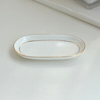 简约漱口杯陶瓷卫浴五件套装浴室洗漱用品套件牙刷杯刷牙杯带托盘