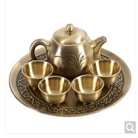 新款迷你功夫茶具套装铜茶壶礼品做工实用防漏创意喝茶小铜壶