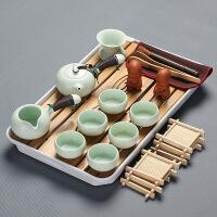 【家装节 夏季狂欢】整套功夫茶具套装家用竹制茶盘小号日式茶楼泡茶宿舍茶杯茶海