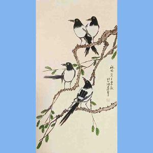 现代画家,美术教育家,建国后任中央美术学院院长,中华全国美术工作者协会主席徐悲鸿(花鸟)3