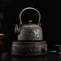 铁茶壶日本南部生铁壶茶具烧水空谷幽兰铸铁茶壶纯手工无涂层电陶炉家用礼品套装铸铁壶无涂层