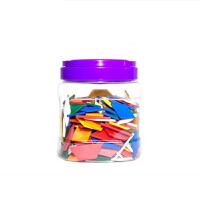 YOUCAIYI几何塑料形状认知片玩具七巧板益拼图教学积木250片