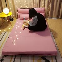 20190403035253531懒人沙发床榻榻米可折叠椅单人双人两用阳台卧室客厅小户型多功能