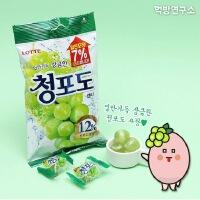 【包邮】韩国进口 乐天青葡萄味硬糖 153g*2袋