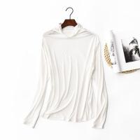 莫代尔高领打底衫大码女装秋冬装堆堆领秋衣韩版修身长袖女士T恤