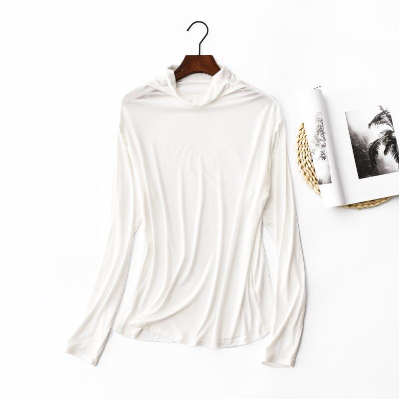 莫代尔高领打底衫大码女装秋冬装堆堆领秋衣韩版修身长袖女士T恤 发货周期:一般在付款后2-90天左右发货,具体发货时间请以与客服协商的时间为准