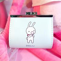 抖音韩国可爱卡通零钱包女小清新学生小钱包夹包短款小方包迷你硬币包 兔子