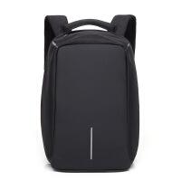 新款牛津布背包时尚休闲电脑双肩背包男创意usb充电防盗背包