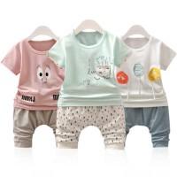 宝宝短袖套装男童卡通夏季两件套男宝宝洋气纯棉韩版夏装2-3岁3-4岁4-5岁童装