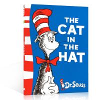 英文原版儿童绘本 The Cat in the Hat 戴帽子的猫 Dr Seuss 苏斯博士绿色系列 美国Top 100百本绘本 送音频