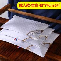 荞麦枕头 荞麦棉单人枕头/枕芯颈椎枕头荞麦枕芯单只装 款-本白 48*74CM 6斤