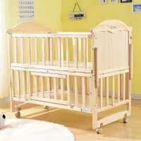 婴儿摇床 全实木环保全实木无油漆婴儿床宝宝摇床床